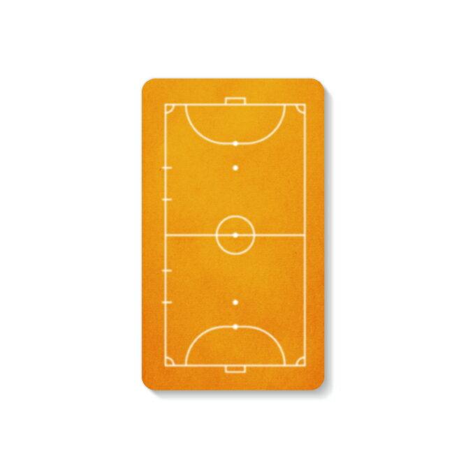 【送料無料】 モバイルバッテリー 4000mAh 充電器 フットサルコート オレンジ 【Coverfull】 4000mAh microUSBケーブル付き 充電器 iPhone アイフォン Android アンドロイド