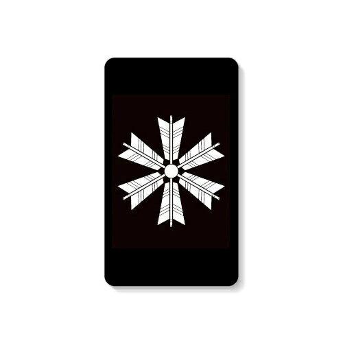 【送料無料】 家紋シリーズ モバイルバッテリー 六つ矢車 (むつやぐるま) 【Coverfull】 10000mAh microUSBケーブル付き 充電器 iPhone アイフォン Android アンドロイド