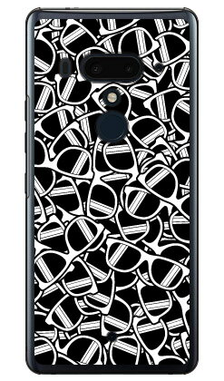 【送料無料】 サングラス ホワイト (クリア) / for HTC U12+/MVNOスマホ(SIMフリー端末) 【YESNO】【平面】【受注生産】【スマホケース】【ハードケース】htc u12+ U12プラス u12+ ケース u12+ カバー U12プラス ケース U12プラス カバー htc u12+ ケース htc