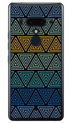 【送料無料】 トライアングル ブルー (クリア) / for HTC U12+/MVNOスマホ(SIMフリー端末) 【YESNO】【平面】【受注生産】【スマホケース】【ハードケース】htc u12+ U12プラス u12+ ケース u12+ カバー U12プラス ケース U12プラス カバー htc u12+ ケース htc
