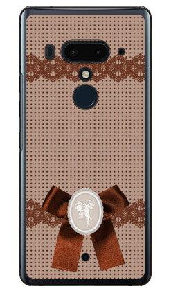 【送料無料】 ドット×カメオ ブラウン (クリア) / for HTC U12+/MVNOスマホ(SIMフリー端末) 【Coverfull】【受注生産】【スマホケース】【ハードケース】htc u12+ U12プラス u12+ ケース u12+ カバー U12プラス ケース U12プラス カバー htc u12+ ケース htc