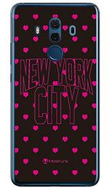【送料無料】 NYC ピンクハートドット (ソフトTPUクリア) design by Moisture / for HUAWEI Mate 10 Pro BLA-L29・703HW/MVNOスマホ(SIMフリー端末)・SoftBank 【SECOND SKIN】huawei mate 10 pro bla-l29 ケース huawei mate 10 pro bla-l29 カバー