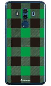 【送料無料】 Buffalo check グリーン (ソフトTPUクリア) design by Moisture / for HUAWEI Mate 10 Pro BLA-L29・703HW/MVNOスマホ(SIMフリー端末)・SoftBank 【SECOND SKIN】huawei mate 10 pro bla-l29 ケース huawei mate 10 pro bla-l29 カバー