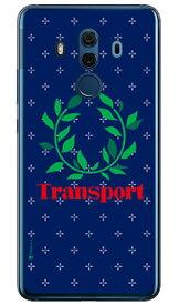 【送料無料】 Transport Laurel クロスドット ネイビー (ソフトTPUクリア) design by Moisture / for HUAWEI Mate 10 Pro BLA-L29・703HW/MVNOスマホ(SIMフリー端末)・SoftBank 【SECOND SKIN】huawei mate 10 pro bla-l29 ケース huawei mate 10 pro bla-l29