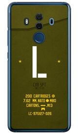 【送料無料】 Cf LTD ミリタリー イニシャル アルファベット L カーキ (クリア) / for HUAWEI Mate 10 Pro BLA-L29・703HW/MVNOスマホ(SIMフリー端末)・SoftBank 【Coverfull】huawei mate 10 pro bla-l29 ケース huawei mate 10 pro bla-l29 カバー