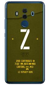 【送料無料】 Cf LTD ミリタリー イニシャル アルファベット Z カーキ (クリア) / for HUAWEI Mate 10 Pro BLA-L29・703HW/MVNOスマホ(SIMフリー端末)・SoftBank 【Coverfull】huawei mate 10 pro bla-l29 ケース huawei mate 10 pro bla-l29 カバー