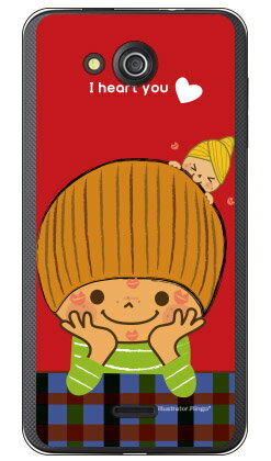 【送料無料】 だいすき (クリア) design by Ringo / for S301/MVNOスマホ(SIMフリー端末) 【Coverfull】S301 ケース S301 カバー S301ケース S301カバー MVNO ケース MVNO カバー イオンモバイル ケース イオンモバイル カバー 京セラ スマホ