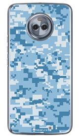 【送料無料】 DIGITAL camouflage ブルー (クリア) design by Moisture / for Moto X4 XT1900/MVNOスマホ(SIMフリー端末) 【SECOND SKIN】moto x4 ケース moto x4 カバー motox4 ケース motox4 カバー モト x4 ケース モト x4 カバー モトx4ケース