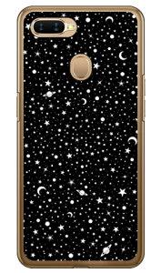 【送料無料】 SPACE ブラック (クリア) / for OPPO AX7/MVNOスマホ(SIMフリー端末) 【SECOND SKIN】【ハードケース】oppo スマホ oppo スマートフォン oppo スマホケース oppo スマホカバー オッポ スマ