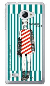 【送料無料】 池田ハル 「アナザーガール・ストライプ・ターコイズグリーン」 (クリア) / for VAIO Phone A VPA0511S・Biz VPB0511S/MVNOスマホ(SIMフリー端末) 【SECOND SKIN】vaio phone a vpa0511s vaio phone a ケース vaio phone a カバー