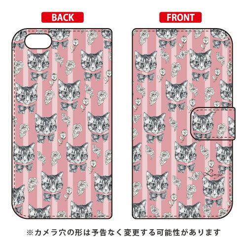 【送料無料】 手帳型スマートフォンケース 薔薇とねこ ピンク design by Ringo / for iPhone 6s/Apple 【Coverfull】iphone6s ケース iphone6s カバー iphone 6s ケース iphone 6s カバー アイフォーン6s ケース アイフォーン6s カバー アイフォン6s ケース