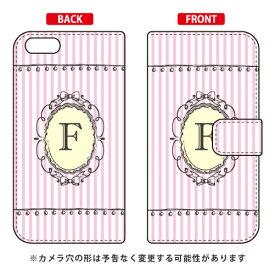 e5582ce710 【送料無料】 手帳型スマートフォンケース Cf LTD イニシャル アルファベット F (ピンク) / for iPhone 8/7/Apple  【Coverfull】iphone8 iphone7 ケース iphone8 ...
