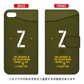 【送料無料】 手帳型スマートフォンケース Cf LTD ミリタリー イニシャル アルファベット Z (カーキ) / for iPod touch (第6世代) 【Coverfull】ipod touch 6 ケース ipod touch 6 カバー アイポッドタッチ6 ケース アイポッドタッチ6 カバー ipodtouch 6