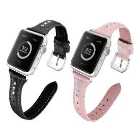 【送料無料】【Apple Watch】【アップルウォッチ】【T slim design with synthetic diamond real leather belt】【合成ダイヤモンド】【本革】【レザー】【アップルウォッチストラップ】 オリジナル バンド セレブ エレガント 美しい 大人 メンズ レディース 男子 女子 男性
