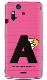 【送料無料】 letter&boy ピンク A (クリア) design by PansonWorks / for Xperia acro IS11S/au 【SECOND SKIN】【受注生産】【スマホケース】【ハードケース】XPERIA acro エクスペリア アクロ カバー エクスぺリア スマートフォンケース Cover カバー