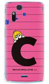 【送料無料】 letter&boy ピンク C (クリア) design by PansonWorks / for Xperia acro SO-02C/docomo 【SECOND SKIN】【ハードケース】xperia acro ケース カバー エクスペリア アクロ エクスぺリア Case Cover スマートフォンケース スマホケース