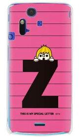 【送料無料】 letter&boy ピンク Z (クリア) design by PansonWorks / for Xperia acro SO-02C/docomo 【SECOND SKIN】【ハードケース】xperia acro ケース カバー エクスペリア アクロ エクスぺリア Case Cover スマートフォンケース スマホケース