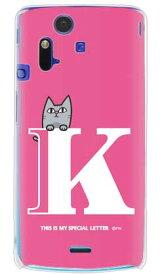 【送料無料】 letter&cat ピンク K (クリア) design by PansonWorks / for Xperia acro SO-02C/docomo 【SECOND SKIN】【ハードケース】xperia acro ケース カバー エクスペリア アクロ エクスぺリア Case Cover スマートフォンケース スマホケース