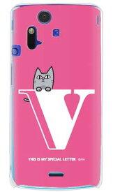 【送料無料】 letter&cat ピンク V (クリア) design by PansonWorks / for Xperia acro SO-02C/docomo 【SECOND SKIN】【ハードケース】xperia acro ケース カバー エクスペリア アクロ エクスぺリア Case Cover スマートフォンケース スマホケース