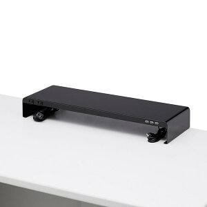 SANWA SUPPLY(サンワサプライ) 電源タップ+USBポート付き机上ラック(W600×D200ブラック) MR-LC202BK液晶モニター台 usbポート&電源タップ付き 机上ラック usb 液晶 モニター 机上 ラック usbポート