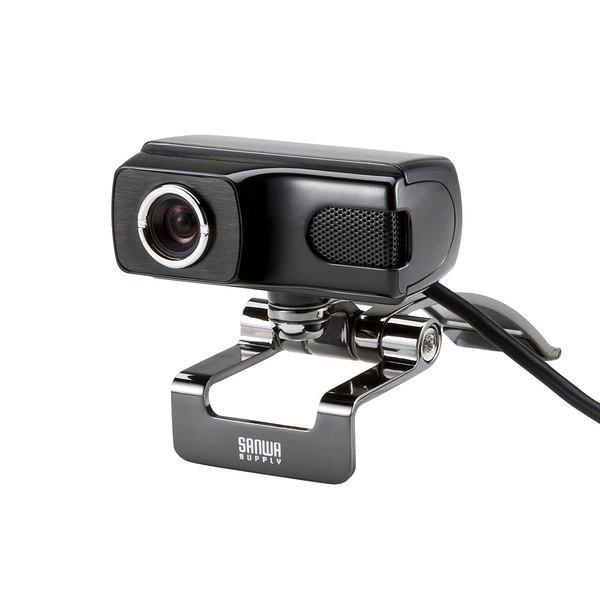 SANWA SUPPLY(サンワサプライ) WEBカメラ CMS-V40BKパソコン 周辺機器 WEBカメラ ウェブカメラ 高画質 fullHD ドライバ不要 簡単 接続 大型ディスプレイ 安定 角度 調節 マイク内蔵 会議 通話 チャット ビデオチャット 高音質 高級感 カメラ スカイプ web会議