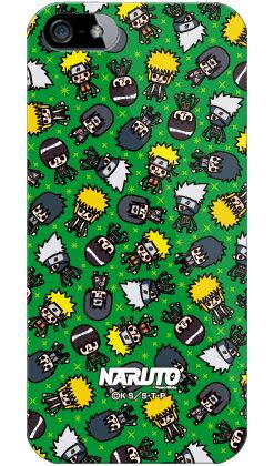 【光沢なし】 ナルト疾風伝シリーズ NARUTO×PansonWorks オールスターズ (グリーン) (ソフトTPUクリア) / for iPhone SE/5/SoftBankiPhone5カバー/アイフォン5/iphone5ケース/アイフォン 5/スマートフォン/スマホケース/ケース/ソフトバンク