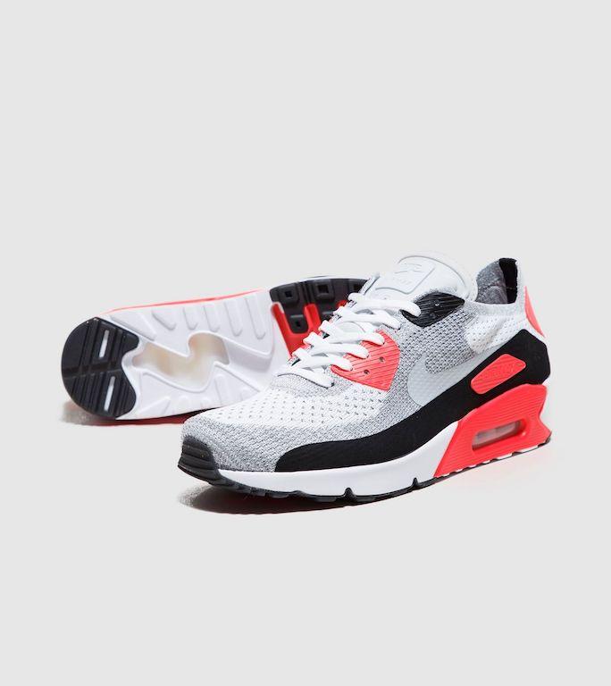 送料無料 men's メンズ 店舗限定 Nike Air Max 90 Ultra 2.0 Flyknit Textile & Synthetic Upper/Synthetic Sole 875943-100 ナイキ エアマックス 90 フライニット ホワイト オレンジ ブラック オリジナルアパレル ストリート 人気 おしゃれ かわいい スニーカー シューズ 靴