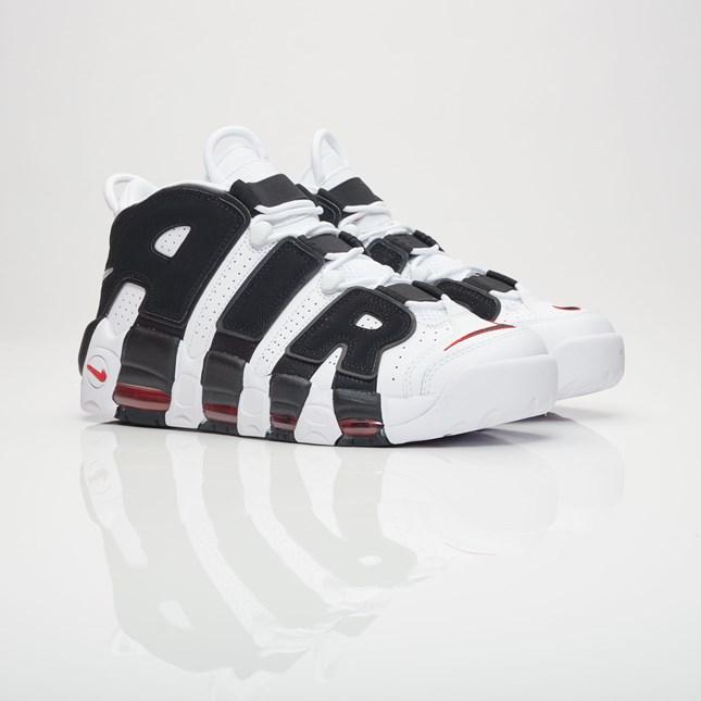 送料無料 Men's メンズ 店舗限定 Nike Sportswear Air More Uptempo White/Black/University Red 414962-105 ナイキ スポーツウェア エア モア アップテンポ ホワイト ブラック スニーカー 靴 人気