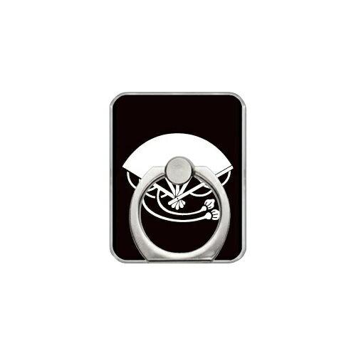 【送料無料】 スマホリング バンカーリング 家紋シリーズ 房扇 (ふさおうぎ) (クリア) 【Coverfull】【カバフル】【受注生産】【落下防止】【スマートフォンリング】