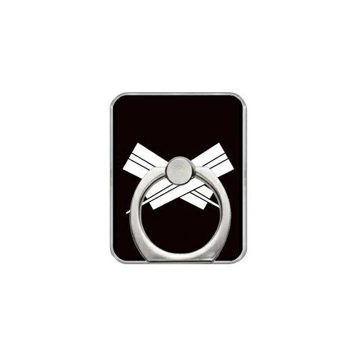 【送料無料】 スマホリング バンカーリング 家紋シリーズ 違い扇 (ちがいおうぎ) (クリア) 【Coverfull】【カバフル】【受注生産】【落下防止】【スマートフォンリング】