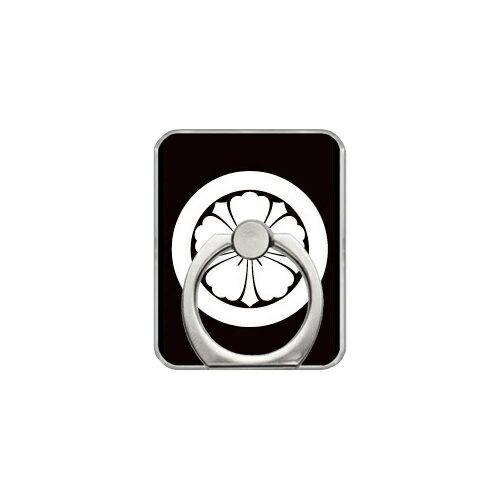 【送料無料】 スマホリング バンカーリング 家紋シリーズ 丸に剣唐花 (まるにけんからはな) (クリア) 【Coverfull】【カバフル】【受注生産】【落下防止】【スマートフォンリング】