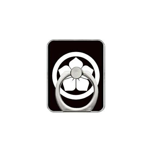 【送料無料】 スマホリング バンカーリング 家紋シリーズ 丸に桔梗 (まるにききょう) (クリア) 【Coverfull】【カバフル】【受注生産】【落下防止】【スマートフォンリング】