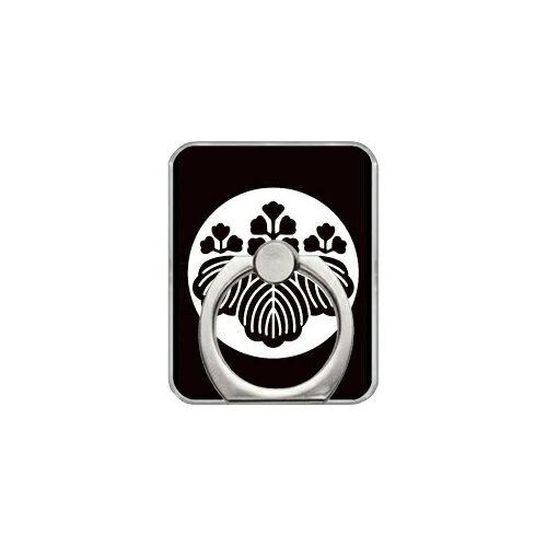 【送料無料】 スマホリング バンカーリング 家紋シリーズ 石持ち地抜き五三桐 (こくもちじぬきごさんきり) (クリア) 【Coverfull】【カバフル】【受注生産】【落下防止】【スマートフォンリング】