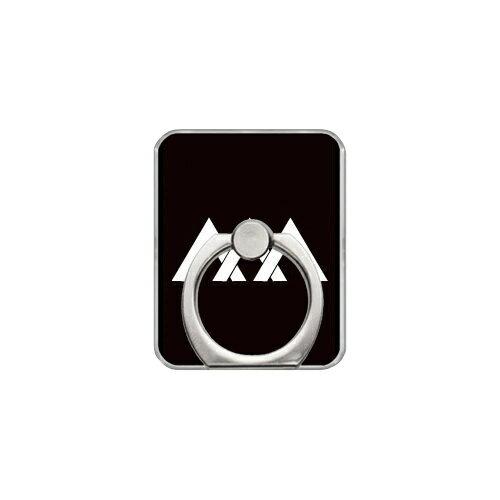 【送料無料】 スマホリング バンカーリング 家紋シリーズ 三つ違い山形 (みつちがいやまがた) (クリア) 【Coverfull】【カバフル】【受注生産】【落下防止】【スマートフォンリング】