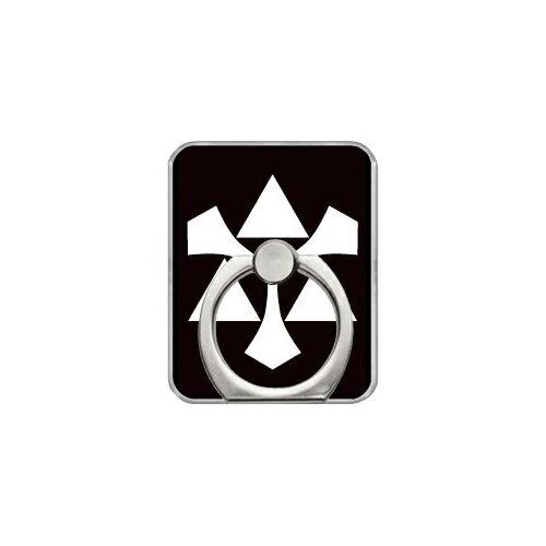 【送料無料】 スマホリング バンカーリング 家紋シリーズ 剣三つ鱗 (けんみつうろこ) (クリア) 【Coverfull】【カバフル】【受注生産】【落下防止】【スマートフォンリング】