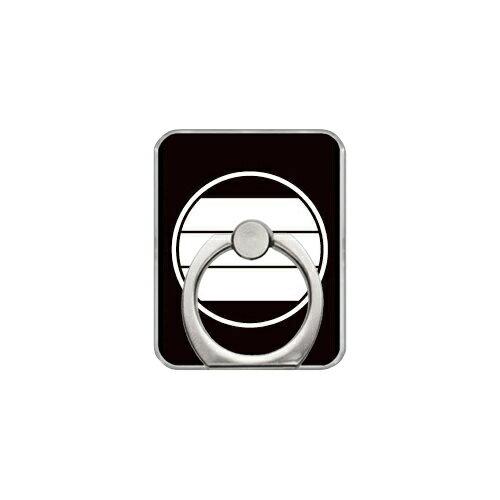【送料無料】 スマホリング バンカーリング 家紋シリーズ 糸輪に寄せ三つ引き (いとわによせみっつびき) (クリア) 【Coverfull】【カバフル】【受注生産】【落下防止】【スマートフォンリング】