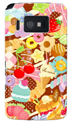 【送料無料】 Milk's Design しらくらゆりこ 「Sweet time」 / for Sweety 003P/SoftBank 【Coverfull】【カバフル】【全面】【受注生産】【スマホケース】【ハードケース】