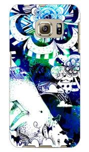 【送料無料】 kion 「Modello_2/くじら/青&緑」 / for Galaxy S6 edge 404SC/SoftBank 【SECOND SKIN】【ハードケース】404sc ケース 404sc カバー ギャラクシーs6エッジ ケース ギャラクシーs6エッジ カバー galaxy
