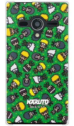 ナルト疾風伝シリーズ NARUTO×PansonWorks オールスターズ (グリーン) (クリア) / for AQUOS PHONE Xx 203SH/SoftBankaquos phone xx 203sh ケース スマホケース スマホカバー アクオス フォン 203sh ケース/カバー/CASE/ケース