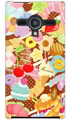 【送料無料】 Milk's Design しらくらゆりこ 「Sweet time」 / for AQUOS PHONE Xx 203SH/SoftBank 【Coverfull】【全面】aquos phone xx 203sh ケース スマホケース スマホカバー アクオス フォン 203sh ケース/カバー/CASE/ケース