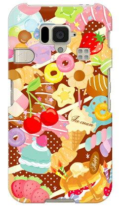 【送料無料】 Milk's Design しらくらゆりこ 「Sweet time」 / for シンプルスマホ 204SH/SoftBank 【Coverfull】【全面】【スマホケース】【ハードケース】204sh ケース シンプルスマホ 204sh カバー スマホケース 204sh スマホカバー 204sh