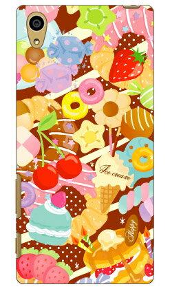 【送料無料】 Milk's Design しらくらゆりこ 「Sweet time」 / for Xperia Z5 501SO/SoftBank 【Coverfull】xperia z5 ケース xperia z5 カバー z5 ケース z5 カバー z5ケース z5カバー エクスペリアz5 ケース エクスペリアz5 カバー ソフトバンク xperia z5