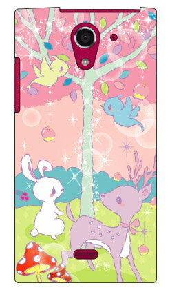 【送料無料】 Milk's Design しらくらゆりこ 「メルヘンな森」 / for AQUOS CRYSTAL Y 402SH/Y!mobile 【Coverfull】crystal y 402sh ケース 402sh カバー aquos crystal y ケース aquos crystal y カバー 402shケース 402shカバー アクオスクリスタルy ケース
