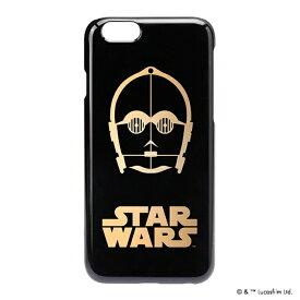 ケース スターウォーズ iPhone6 iPhone6s ゴールド箔押し ハードケース 背面カバー カバー 背面ケース ゴールド ブラック STAR WARS C-3PO アイフォン6 アイフォン6s アイフォンケース アイフォンカバー