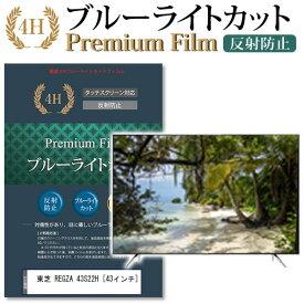 東芝 REGZA 43S22H [43インチ] 機種で使える ブルーライトカット 反射防止 液晶TV 保護フィルム メール便送料無料 母の日 プレゼント 実用的