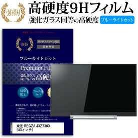 東芝 REGZA 43Z730X [43インチ] 機種で使える 強化 ガラスフィルム と 同等の 高硬度9H ブルーライトカット 反射防止 液晶TV 保護フィルム メール便送料無料