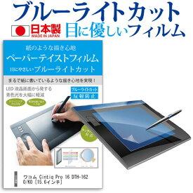 ワコム Cintiq Pro 16 DTH-1620/K0 [15.6インチ] 指紋防止 ブルーライトカット ノングレア 液晶保護フィルム ペンタブレット用フィルム メール便送料無料