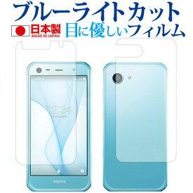 AQUOS Xx3 mini 603SH 両面セット / Sharp専用 ブルーライトカット 日本製 反射防止 液晶保護フィルム 指紋防止 気泡レス加工 液晶フィルム メール便送料無料