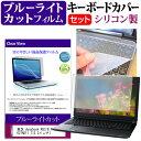 東芝 dynabook R63 R63/B [13.3インチ] 機種で使える ブルーライトカット 指紋防止 液晶保護フィルム と キーボードカ…