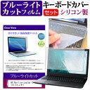 HP Pavilion Laptop 13 [13.3インチ] 機種で使える ブルーライトカット 指紋防止 液晶保護フィルム と キーボードカバ…